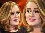 "7 December 2015-NYC-USA  **** STRICTLY NOT AVAILABLE FOR USA *** Singing super Adele couldnt hide her beaming smile as she opened up and claimed that she is now happier and healthier than she has ever been Sat down for an interview as the Radio City Music Hall in New York City, she was asked where she is at in her life right now by The Today Show's Matt Lauer and a smiling Adele confidently said: ""I've never been happier and ive never been healthier so I'm good!"" On writing and finding the lyrics to her songs for her latest record-breaking album '25', Adele opened up and admitted: ""I found it impossible for a while and i didnt know what i wanted to write about and I wasnt, well to be honest I wasnt sad."" She continued: ""I was overthinking everything and when i just chilled out it came"" And then asked what the new hit song Hello was all about she added: ""Its just about reconnecting with everyone else and myself"" The singer also showed off her hand tatttoos where she has had 'Angel' ink"