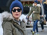 A Pregnant Rose Byrne looking good as she runs errands in the west village of NYC