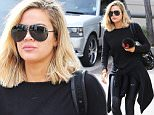 Khloe Kardashian gets in a Sunday morning workout before lunch in Calabasas . Sunday, December 6, 2015. X17online.com