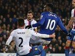 Dac 7th 2015 - Liverpool, UK - EVERTON V CRYSTAL PALACE - Everton's Romelu Lukaku scores 1-1. PIcture by Ian Hodgson/Daily Mail