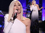 THE TONIGHT SHOW STARRING JIMMY FALLON -- Episode 0380 -- Pictured: Musical guest Gwen Stefani performs with The Roots on December 3, 2015 -- (Photo by: Douglas Gorenstein/NBC/NBCU Photo Bank via Getty Images)