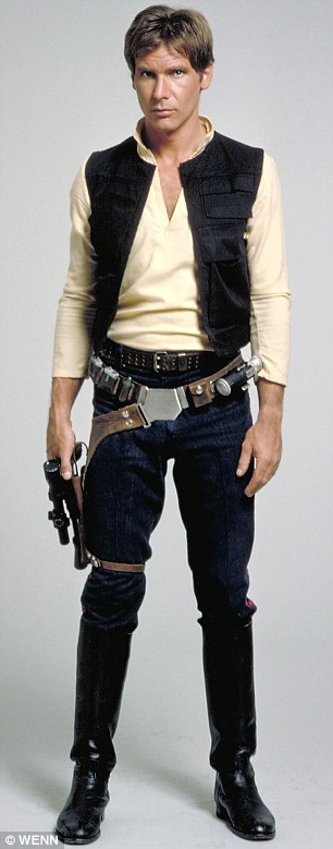 Fan-tasy role: His legion of female fans will have dreamt about seeing the hunk in Han Solo's tight uniform