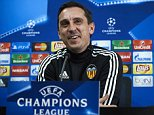 VALENCIA, SPAIN - DECEMBER 08:  Gary Neville the new manager of Valencia CF faces the media during a press conference on the eve of the UEFA Champions League Group H match against Olympique Lyonnais at Paterna Training Centre on December 08, 2015 in Valencia, Spain.  (Photo by Manuel Queimadelos Alonso/Getty Images)