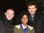 MANCHESTER, ENGLAND - DECEMBER 02:  (EXCLUSIVE COVERAGE) Wayne Rooney and Michael Carrick of Manchester United, with Winta Abreha - a child from a local school in association with the Manchester United Foundation - switch on the Christmas tree lights at Old Trafford on December 2, 2015 in Manchester, England.  (Photo by John Peters/Man Utd via Getty Images)