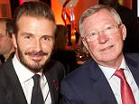 Mandatory Credit: Photo by Piers Allardyce/REX Shutterstock (5465023a)  David Beckham & Sir Alex Ferguson  Grassroot Soccer fundraising gala to mark World Aids Day, London, Britain - 01 Dec 2015