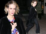 """UK CLIENTS MUST CREDIT: AKM-GSI ONLY\nEXCLUSIVE: New York, NY - Sarah Paulson is seen out and about in New York City. The actress is carrying a Healthmate Forever box. Sarah Paulson shared some love for her girlfriend Holland Taylor on Sunday. Paulson went to watch Taylor perform in the comedy Ripcord at the Manhattan Theater Club on Sunday afternoon, and the 40-year-old AHS star couldn't contain her excitement over the 72-year-old actress' dynamic stage presence. """"@HollandTaylor You sure are a genius. #favoriteactress,"""" Sarah tweeted.\n\nPictured: Sarah Paulson\nRef: SPL1191988  071215   EXCLUSIVE\nPicture by: AKM-GSI / Splash News\n\n"""