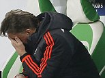 Football Soccer - VfL Wolfsburg v Manchester United - UEFA Champions League Group Stage - Group B - Volkswagen-Arena, Wolfsburg, Germany - 8/12/15\n Manchester United manager Louis van Gaal looks dejected\n Action Images via Reuters / Carl Recine\n Livepic\n EDITORIAL USE ONLY.