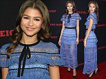 Mandatory Credit: Photo by REX Shutterstock (5480375r)  Zendaya Coleman  'The Hateful Eight' film premiere, Los Angeles, America - 07 Dec 2015