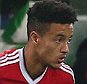 Cameron Borthwick-Jackson of Manchester United comes on to replace injured Matteo Darmian during the UEFA Champions League Group B match between Vfl Wolfsburg and Manchester United played at The Volkswagen Arena, Wolfsburg on 8th December 2015