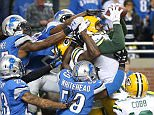 DETROIT MI - DECEMBER 3: Richard Rodgers #82 of the Green Bay Packers catches a fourth quarter touchdown to win the game 27-23 over the Detroit Lions on December 3 2015 at Ford Field in Detroit, Michigan. (Photo by Leon Halip/Getty Images) *** BESTPIX ***