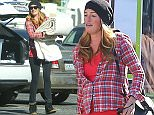 Picture Shows: Cat Deeley  December 07, 2015    A pregnant Cat Deeley spotted out and about in Beverly Hills, California. Cat stopped to get some clothes altered while she was out.     Exclusive  UK Rights Only    Pictures by : FameFlynet UK © 2015  Tel : +44 (0)20 3551 5049  Email : info@fameflynet.uk.com