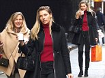 NEW YORK, NY - DECEMBER 08:  Jessica Hart are seen in Soho  on December 8, 2015 in New York City.  (Photo by Alo Ceballos/GC Images)