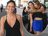 I'M A CELEBRITY, GET ME OUTTA HERE! WINNER VICKY PATTISON ARRIVES AT BRISBANE AIRPORT WITH FELLOW CAMPMATE FERNE MCCANN TO HEAD HOME TO ENGLAND EXCLUSIVE 8 December 2015 ©MEDIA-MODE.COM