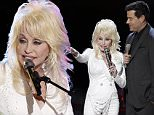 """THE VOICE -- """"Live Semis"""" Episode 917B -- Pictured: (l-r) Dolly Parton, Carson Daly -- (Photo by: Tyler Golden/NBC/NBCU Photo Bank via Getty Images)"""