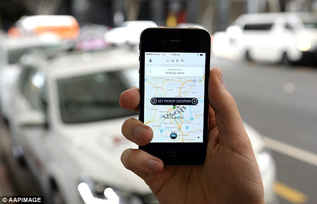 Uber and other ride-sharing services will be legal on NSW roads next month (stock image)