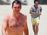 **NON-EXCLUSIVE**\nPeter Stefanovic spotted in Bondi enjoying a swim after a morning run on the beach.
