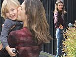 Alessandra Ambrosio and her son Naoh, enjoying a stroll through Brentwood then get something to eat, Wednesday, December 9, 2015 X17online.com