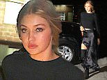 Gigi Hadid, Lily Aldridge, Candice Swanepoel, Joan Smalls, Elsa Hosk, and more Victoria's Secret models arrive to the Greenwich Hotel for VS Fashion Show screening afterparty  Pictured: Gigi Hadid Ref: SPL1192592  081215   Picture by: We Dem Boyz / Splash News  Splash News and Pictures Los Angeles: 310-821-2666 New York: 212-619-2666 London: 870-934-2666 photodesk@splashnews.com