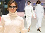 Picture Shows: Victoria Beckham  December 08, 2015    The Woman In White...    Victoria Beckham is spotted wearing all white with leopard print heels jetting out of JFK airport in New York City.     Non Exclusive  UK Rights Only  Pictures by : FameFlynet UK © 2015  Tel : +44 (0)20 3551 5049  Email : info@fameflynet.uk.com