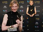SYDNEY, AUSTRALIA - DECEMBER 09:  Cate Blanchett poses with  the AACTA Longford Lyell Award during the 5th AACTA Awards at The Star on December 9, 2015 in Sydney, Australia.  (Photo by Don Arnold/WireImage)