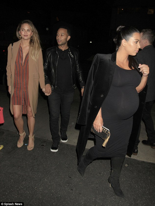 Wishful thinking!'This pregnancy, I would love a Lorraine Schwartz diamond choker, like the ones I've worn before to the Art + Film Gala,' the Keeping Up With The Kardashians standout wrote