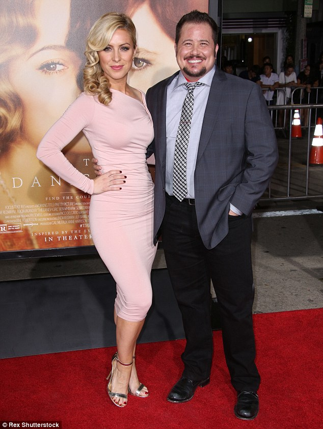 Jazzed: Chaz Bono - who very publicly made the transition from female to male - looked happy beside his pretty blonde date