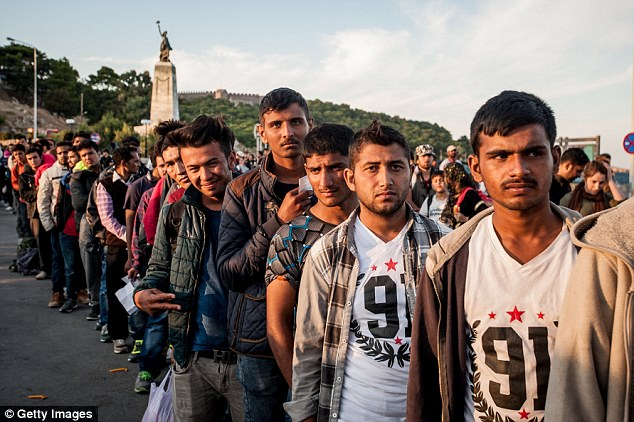 Their arrival came after two Syrian families (stock image of Syrian refugees) identified themselves on Tuesday