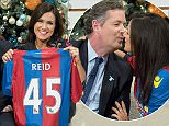 EDITORIAL USE ONLY. NO MERCHANDISING  Mandatory Credit: Photo by Ken McKay/ITV/REX Shutterstock (5490004af)  Susanna Reid is given a Crystal Palace shirt from Piers Morgan  'Good Morning Britain', TV show, London, Britain - 09 Dec 2015
