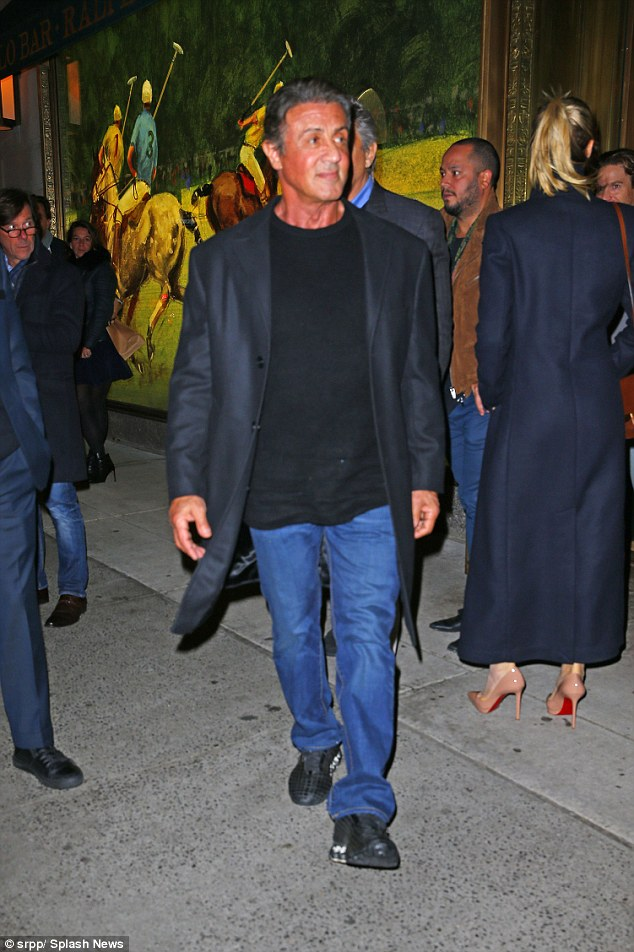 Glowing:Sylvester Stallone is known for staying in tip-top shape. But on Saturday something else stood out about the 69-year-old veteran actor while in NYC