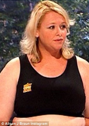 Then: During her time on the dieting and lifestyle show, Alison had thin shoulder length locks