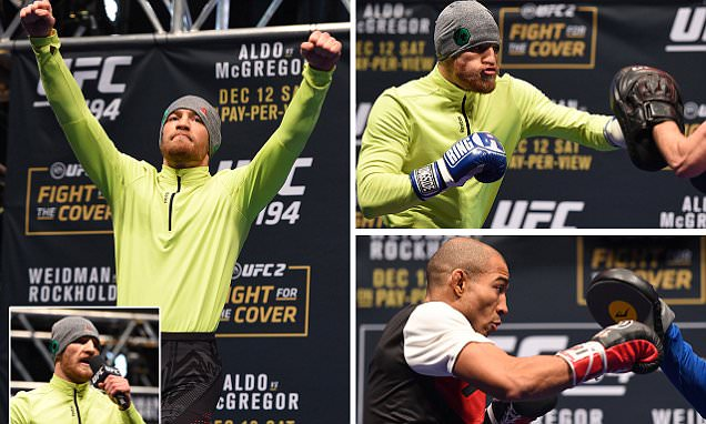 Conor McGregor gears up for Jose Aldo UFC 194 battle in front of raucous Irish fans