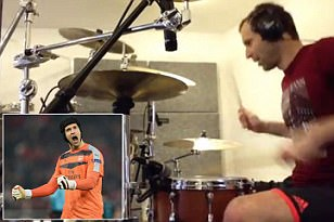 Arsenal No 1 Petr Cech reveals how getting hooked on drums after chance PlayStation game