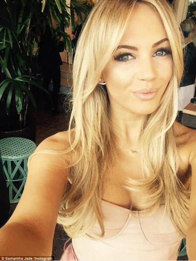 Hopeful: Singer Samantha Jade insists next year is her time for finding Mr Right saying she isn't purposely looking but hoping for love