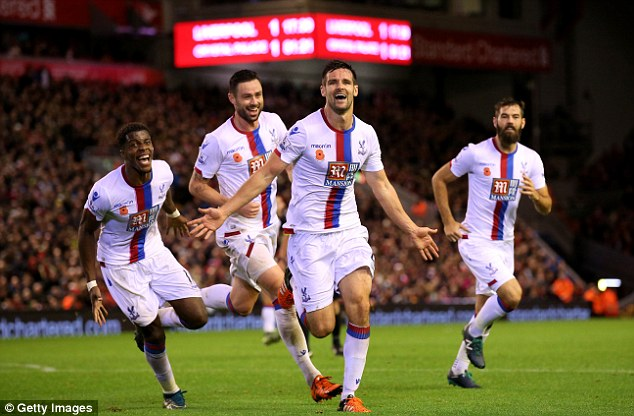 Scott Dann's header lifted Crystal Palace to victory over Liverpool at Anfield before the international break