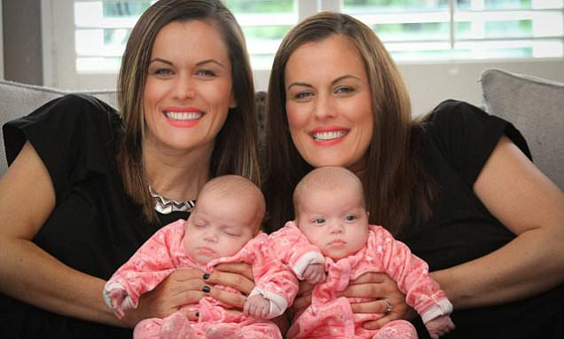 Identical twin defies the odds to give birth to her OWN set of twin girls