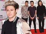 (left to right) Liam Payne, Louis Tomlinson, Harry Styles and Niall Horan of One Direction arrive on the red carpet for the BBC Music Awards at the Genting Arena, Birmingham. PRESS ASSOCIATION Photo. Picture date: Thursday December 10, 2015. Photo credit should read: Joe Giddens/PA Wire
