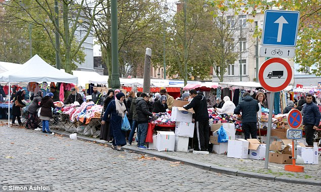 Radicalised: Anti terror units are said to be probing preachers who are brainwashing children into pickpocketing people in Molenbeek (pictured) before sending them to Syria