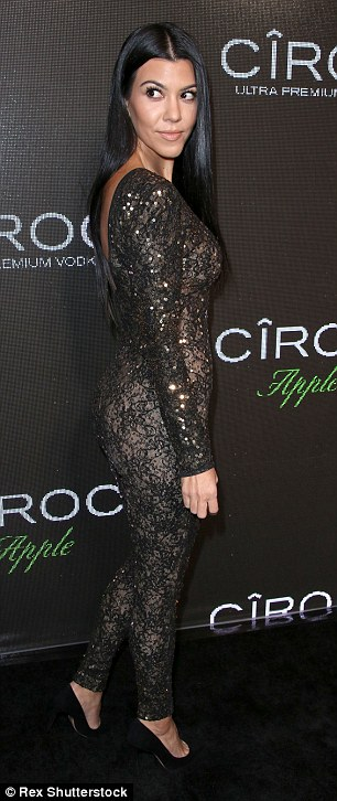 Lovely look: Her body looked amazing from all angles