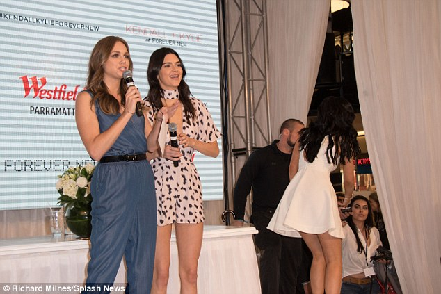 Down Under: Kendall and Kylie arrived in Australia on Tuesday to launch their clothing line in Sydney and Melbourne at department store Forever New