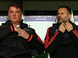 Manchester United manager Louis van Gaal and assistant Ryan Giggs during the UEFA Champions League Group B match between Vfl Wolfsburg and Manchester United played at The Volkswagen Arena, Wolfsburg on 8th December 2015