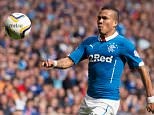 30/07/14 SCOTTISH CHAMPIONSHIP RANGERS v QUEEN OF THE SOUTH (4-2) IBROX - GLASGOW Arnold Peralta in action for Rangers.