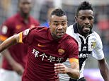 ROME, ITALY - FEBRUARY 15:  AS Roma player Ashley Cole (L) during the Serie A match between AS Roma and Parma FC at Stadio Olimpico on February 15, 2015 in Rome, Italy.    (Photo by Luciano Rossi/AS Roma via Getty Images)