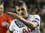 Mandatory Credit: Photo by Kieran Galvin/REX Shutterstock (5490777a)  Tottenham Hotspur's Erik Lamela scores his hat-trick  Football - Tottenham Hotspur against Monaco, UEFA Football - Europa League football Group J football match, White Hart Lane stadium, Baku, Britain - 10 Dec 2015