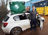 Dated: 8/12/2015 Desmond aftermath.. Carlisle United goal keeper Dan Hanford finds his car has been customised by Storm Desmond after he left it in the clubs car park. See Desmond aftermath