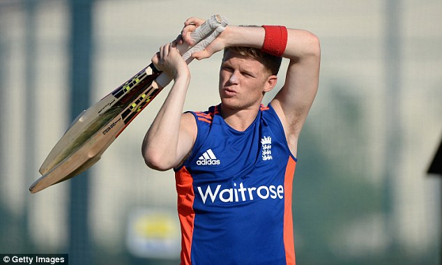Sam Billings makes his was out to the crease during practice on Sunday ahead of the Twenty20 clash