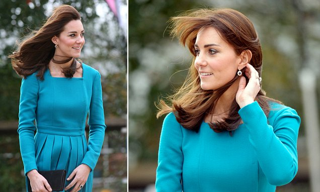 Kate Middleton wears Emilia Wickstead dress and Reiss coat at Action on Addiction centre