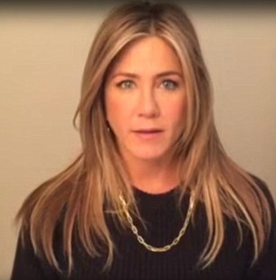 Celebrity voice: Jennifer Aniston is just one of the celebrities who is speaking out against gun violence in the wake of recent shootings
