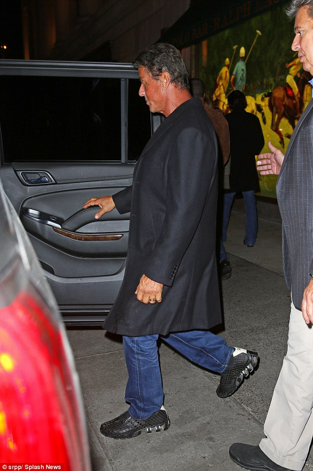 Bye:While leaving the trendy Polo bar, the movie star showed off a very deep tan