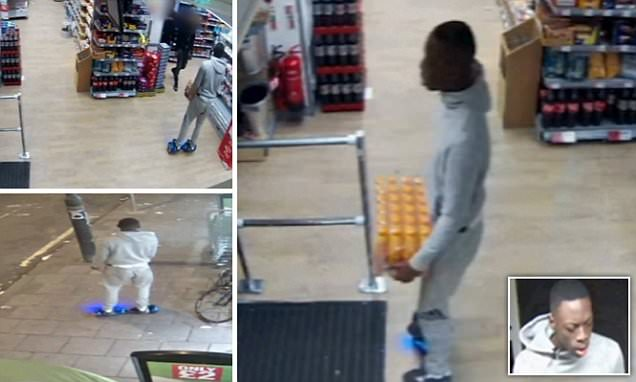 'Shoplifter' wanted after 'stealing from Mitcham Co-op' on a HOVERBOARD