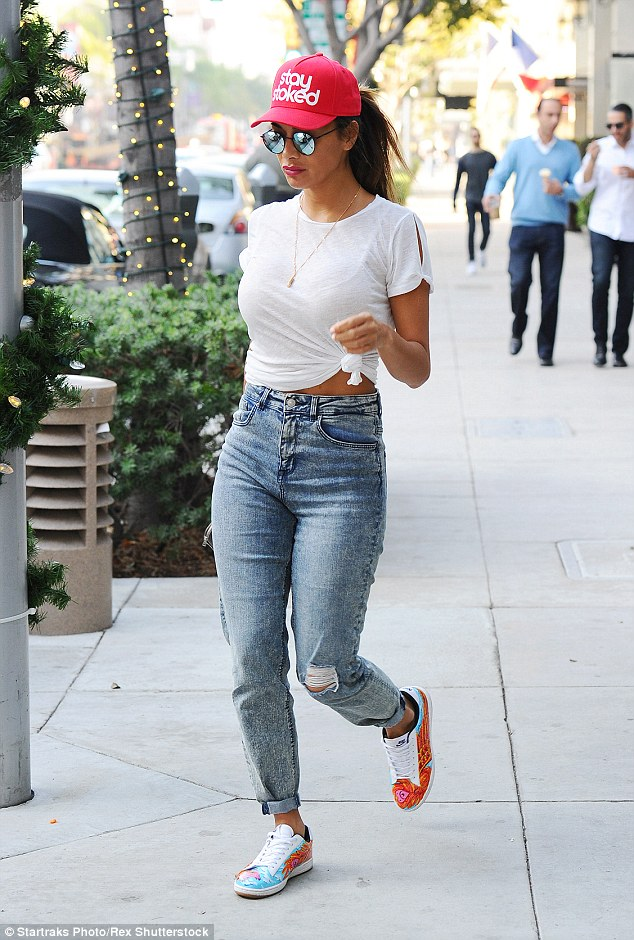 Standing out: Nicole Scherzinger certainly made a statement when she stepped out in an edgy, urban ensemble while out running errands in Los Angeles on Wednesday